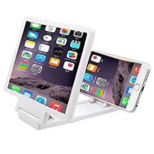 SODIAL 3D Mobile Phone Screen Magnifier HD Video Amplifier for Smart Phones White
