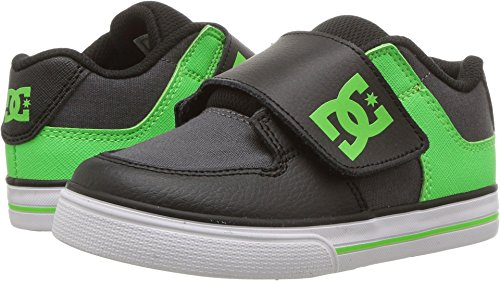 (DC Kids' Youth Pure V Skate Shoes, Green/Grey/White, 5 M US Toddler)