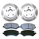 Prime Choice Auto Parts RSCD63003-63003-856A-2-4 4 Front Ceramic Brake Pads and 2 Front Brake Rotors