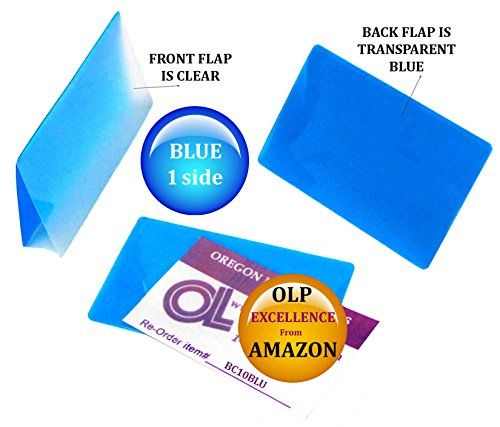 Oregon Lamination Hot Laminating Pouches Business Card (pack of 100) 10 mil 2-1/4 x 3-3/4 Blue/Clear