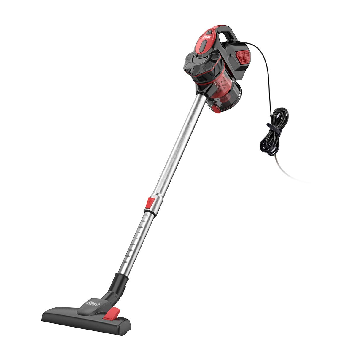 INSE Vacuum Cleaner Corded Stick Handheld 2 in 1 Vacumes for Hardwood Low-Medium Pile Carpet Pet Hair 18KPA 600W - I5
