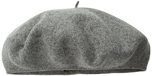 Scala Wool Top Hat (Dorfman Pacific Women's Scala Wool Beret, Light Grey, One Size)