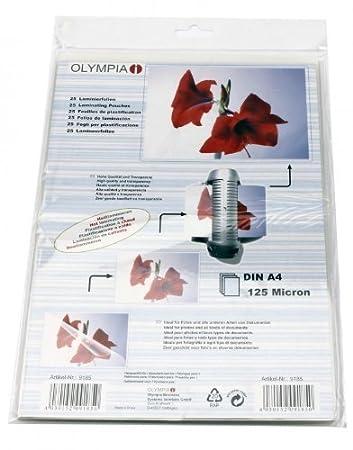 Olympia 9182 Laminierfolien 80 Mic DIN A3 25 St/ück
