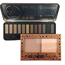 W7 In The Buff Lightly Toasted Eyeshadow Palette & Hollywood Bronze And Glow Set