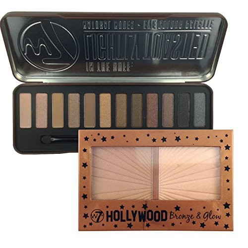 W7 In The Buff Lightly Toasted Eyeshadow Palette & Hollywood