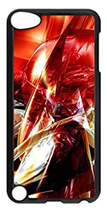 iPod Touch 5 Cases & Covers - Abstract Red Art Custom PC Soft Case Cover Protector for iPod Touch 5 - Transparent