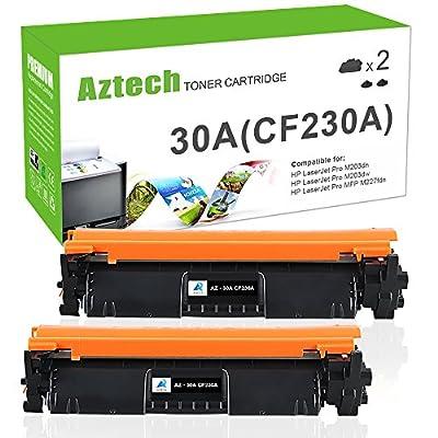 Aztech 2 Packs Compatible 30A CF230A Toner Cartridge Replacement for HP LaserJet M203d M203dn M203dw HP LaserJet Pro MFP M227fdn M227fdw M227sdn--With Chip