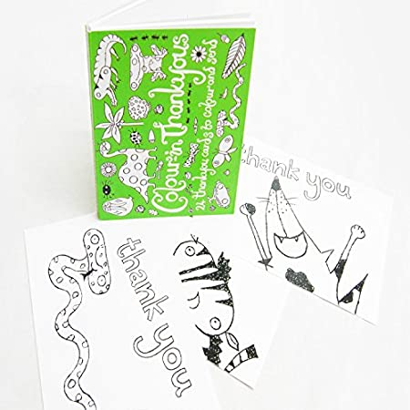 Birthday And Thank You Cards Colour In Birthday Postcards Od02