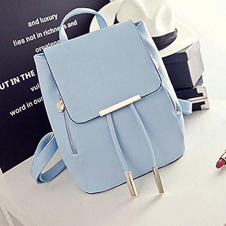 Amazon.com: Backpacks,Han Shi Women Girls Leather Schoolbags Travel Casual Shoulder Bag Mochila (Beige, M): Home & Kitchen