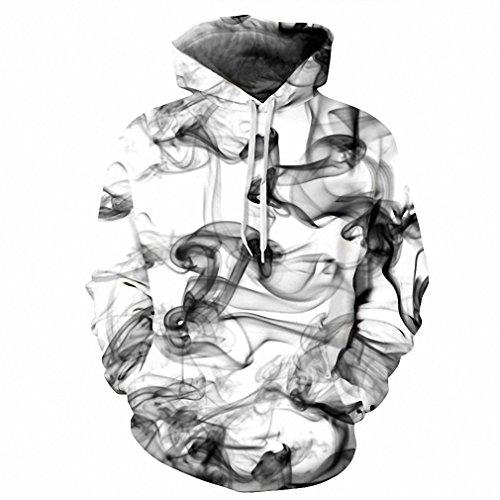 New Smoke Jumper Mens (New Fashion Men/Women 3d Sweatshirts Print Watercolor Dreamy Smoke Lines Thin Style Autumn Winter Hooded Hoodies DM142 XL)