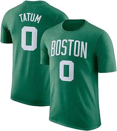 Camiseta de baloncesto retro Boston Celtics #0 Jayson Tatum Swingman Uniform, para hombre, de algodón, de manga corta, para deporte y casual