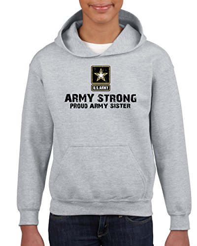 Army Star Army Strong Proud Army Sister Family Patriotic Youth Hoodies Sweater (Army Star Sweatshirt)