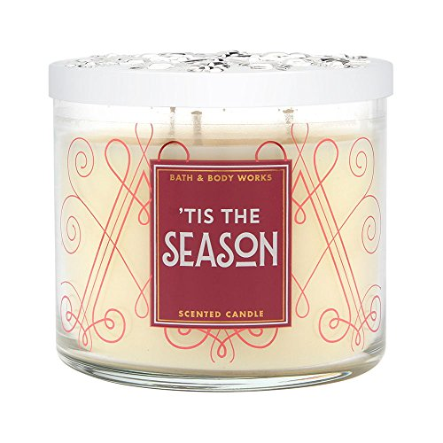 Bath and Body Works 'Tis The Season Scented 3 Wick Candle for 2017 - Holiday 3 Wick Candle