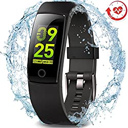Waterproof Health Tracker,MorePro Fitness Tracker Color Screen Sport Smart Watch,Activity Tracker with Heart Rate Blood Pressure Calories Pedometer Sleep Monitor Call/SMS Remind for Smartphones Gift.