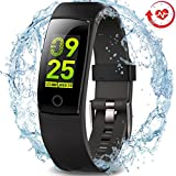 Waterproof Health Tracker - MorePro Fitness Tracker Color Screen Sport Smart Watch - Activity Tracker with Heart Rate Blood Pressure Calories Pedometer Sleep Monitor Call SMS Remind for Smartphones Gift.