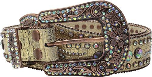 Nocona Women's Scroll Round Concho Belt Gold Small