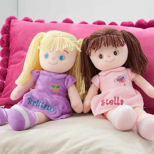 Personalized Dibsies Butterfly Snuggle Doll - 15 Inch (Brunette)