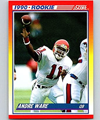 Amazon.com: 1990 Score Football #292 Andre Ware RC Rookie Card ...