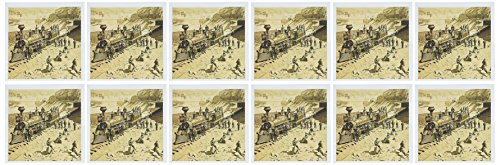 3dRose Scenes from the Union Pacific Railroad - Greeting Cards, 6 x 6 inches, set of 12 (gc_16161_2)