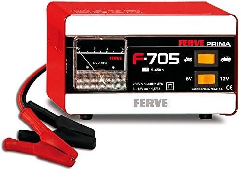 FERVE F-705 Cargador de Baterías de Plomo Ácido: Amazon.es: Coche ...