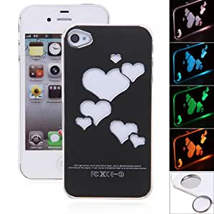 New Arrival For iPhone5 Heart Case LED Sense Flash light Case Cover for Apple iPhone 5 5G 5S --- Color:Without Package