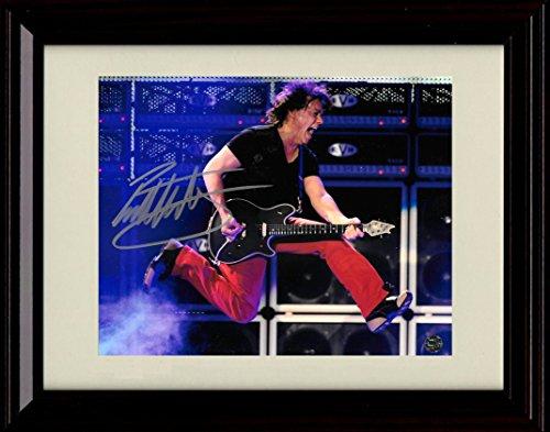 Framed Eddie Van Halen Autograph Replica Print ()