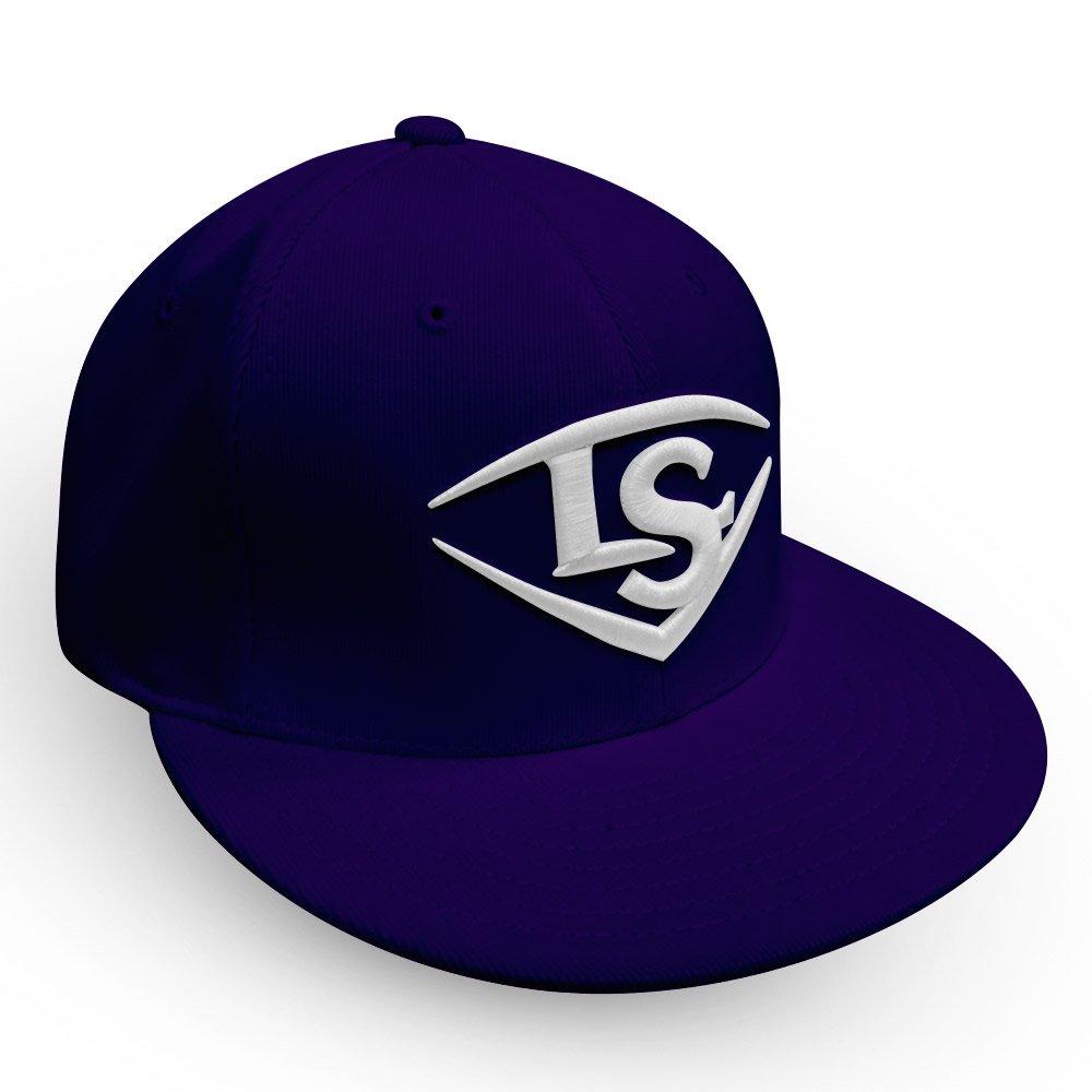 Louisville Slugger Flat Bill野球/ソフトボールTrucker Hat B077DTDJ5Kパープル/ホワイト Small/Medium