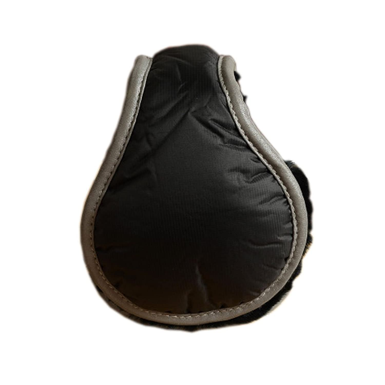 Warm Plüsch Ohr-Wärmer Faltbare Earmuffs für Outdoor-Skifahren, Schwarz