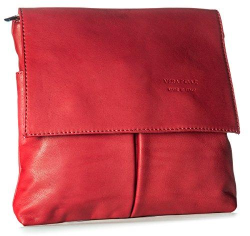 cuero Shop One Big de al para hombro Bolso Rojo Handbag hombre H5qxqzwY