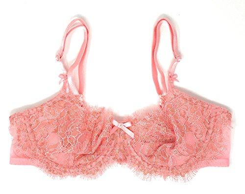 Victoria's Secret Dream Angels Wicked Unlined Uplift Bra Pink Gold Shimmer 32D