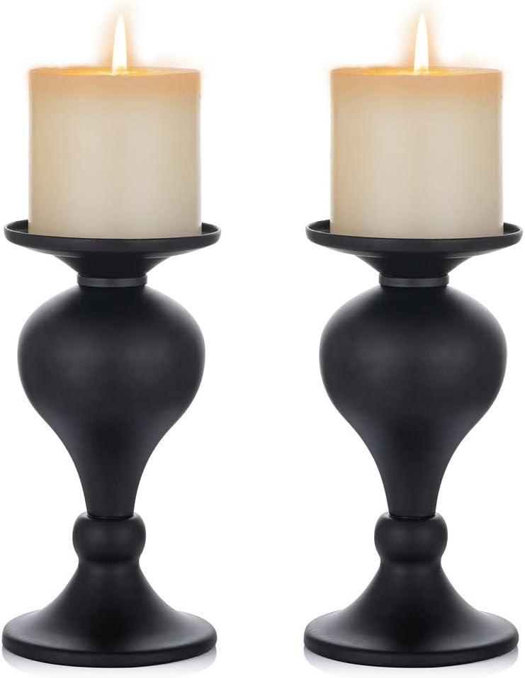 Kumara Pillar Candle Holder Black