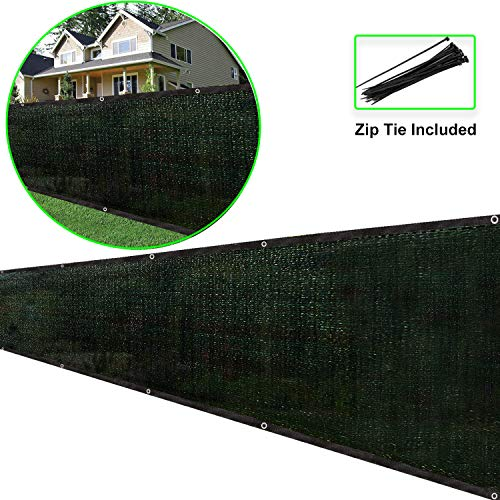 (Eden's Decor Fence Privacy Screen - Customizable Commercial Grade Fence Screen Privacy Screen 140 GSM for for Backyard Deck, Patio, Balcony, Pool, Fence(Dark Green, 8ft X 54ft))