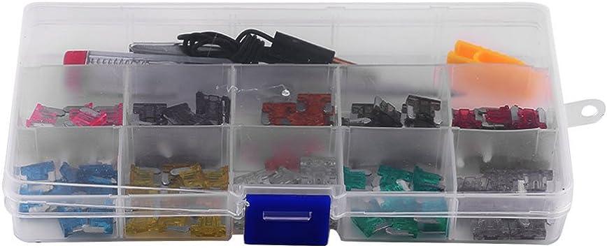 100 Stücke Micro Mini Blade Sicherungen Box Sortiment Set Klinge Sicherungshalter Set Für Auto Motorrad Auto Boot Lkw 10 Gauge 3 4 5 7 5 10 15 20 25 30 35amp Auto