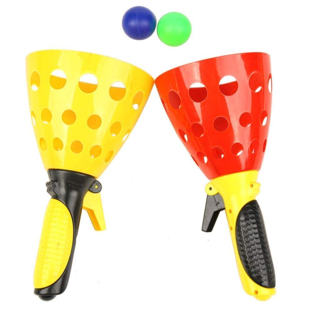 FunBlast Click and Catch Twin Ball Game Indoor Outdoor Toy Set, Pop & Catch Ball Play Fun Boys & Girls (Color May Vary) 1