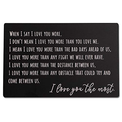 Engraved Wallet Insert Card, Personalized Message Card, Metal Wallet Card Anniversary Gift for Men, Valentines, Wedding Day Gift, Groom's Gift for Him, Father's Day,Christmas Gift