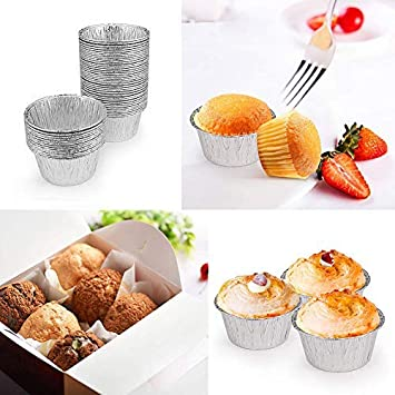 3.7 in SOHAPY 100Pcs Disposable Aluminum Tin Foil Tarts Pie Pans Baking Cups For Baking Roasting Cooking Reheating BBQ Freezer /& Oven Safe Non-stick 5.7//4.7//3.7 in