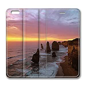 iPhone 6 Leather Case, Personalized Protective Flip Case Cover Twelve Apostles At Sunset Port Campbell National Park Australia for New iPhone 6