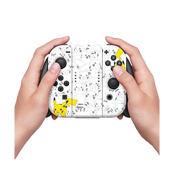 "Controller Gear Officially Licensed Nintendo Pokémon Switch Console Skin ""Pikachu Set 2"" 5"