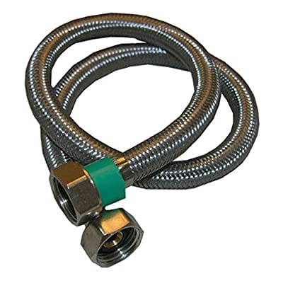 LASCO 10-0409 1/2-Inch Female Iron Pipe by1/2-Inch Female Iron Pipe by 9-Inch Flex Stainless Steel Braided with Poly Inner Core Water Supply