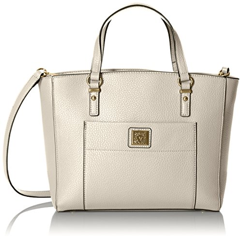 Anne Klein Perfect Tote Convertible Satchel, Off White (Convertible Tote Handbag)