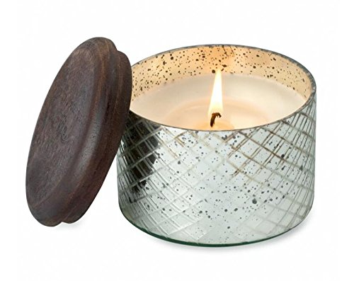 Himalayan Candles Diamond Etched Glass Soy Candle, 8-Ounce, Sacred Temple Garden