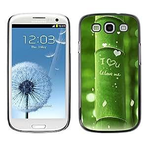 Paccase / SLIM PC / Aliminium Casa Carcasa Funda Case Cover - Nature Beautiful Forrest Green 11 - Samsung Galaxy S3 I9300