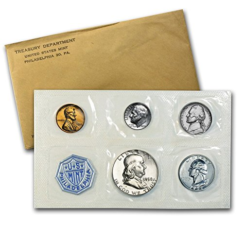 (1958 P US Silver Proof Set US Mint Proof Set Original Government Packaging Proof)