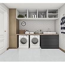 12mm White Leather Floating tile floor Uniclic Cork Flooring box 17.44sq.ft