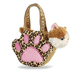 Aurora World Fancy Pals Pet Carrier, Paws, Orange Kitty