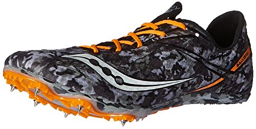 Saucony Mens Ballista Track Spike Racing Shoe, Negro/Blanco, 44 D(M) EU/9 D(M) UK