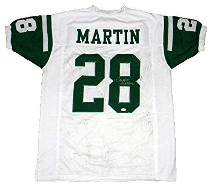 Cheap Curtis Martin Autographed Jersey Ny #28 White JSA Certified