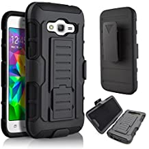 Galaxy A5 (2015) Case,Stanlance Swivel Belt Clip Holster Shell Cover with Kickstand [MILITARY GRADE] Heavy Duty Sturdy Rubber Armor Case for Samsung Galaxy A5 (2015)