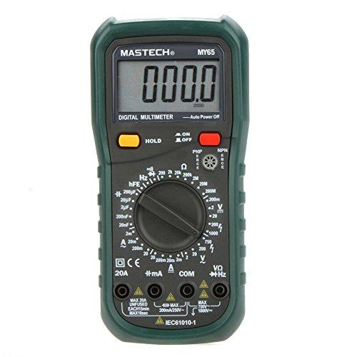 - Digital Multimeter DMM AC/DC Voltmeter Ammeter Ohmmeter w/ Capacitance Frequency & hFE Test MASTECH MY65