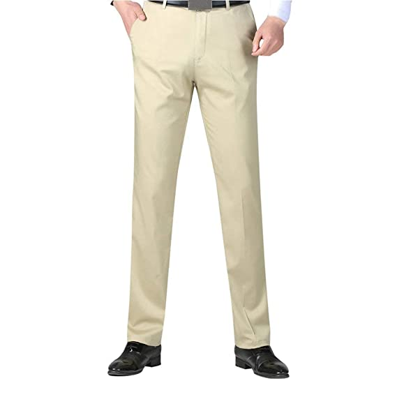 Emmay Herren Chino Hose Chinohose Anzughose Regular Trousers Suit Hose Slim  Formal Work Essential Home Office 0b9d444487